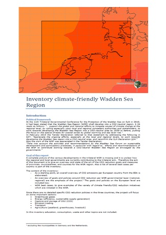 CO2 inventory of a climate friendly Waddensea region