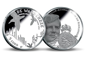 Commemorative Coin from The Netherlands about the Wadden Sea