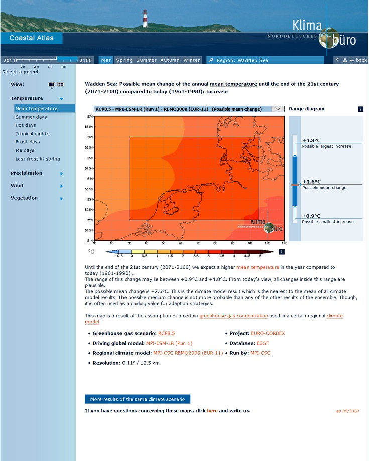 Climate Atlas from HZG with WSF enhancements